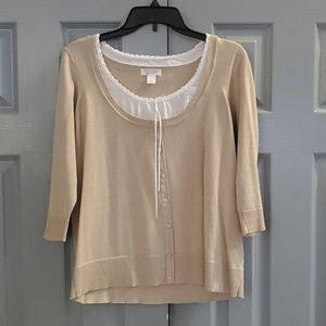 Christopher & Banks Blouse Sweater Size L